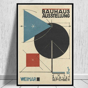 Posters and Prints Bauhaus Ausstellung 1923 Weimer Exhibition Poster Wall Art Picture Canvas Painting for Room Home Decor 1 from Gallery Wallrus | Eclectic Wall Art & Decor with Worldwide Shipping