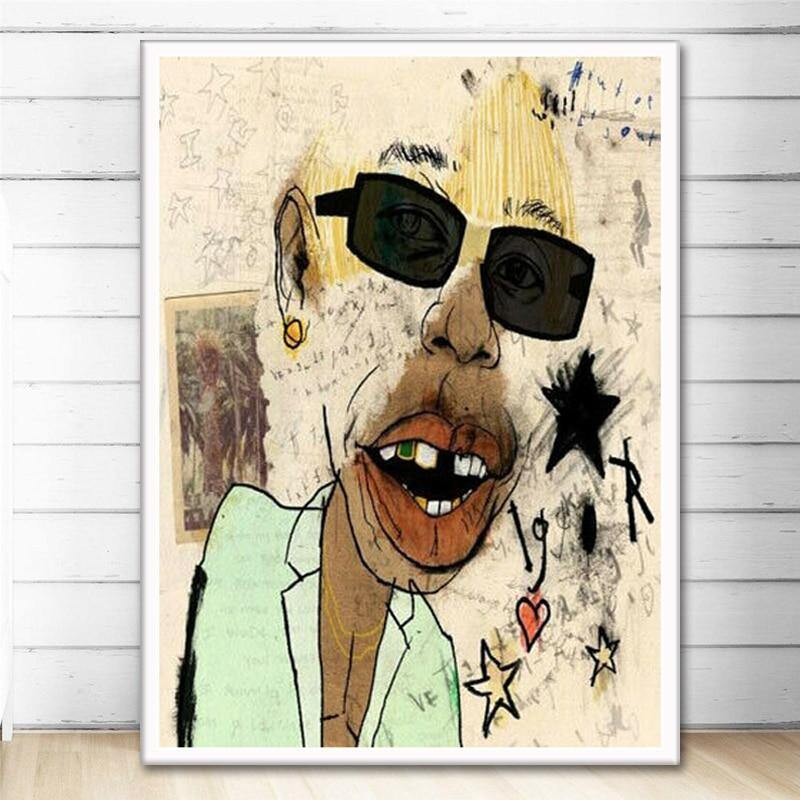 Hip Hop Rapper The Creator Igor Artworks from Gallery Wallrus | Eclectic Wall Art & Decor with Worldwide Shipping