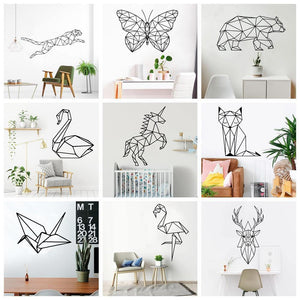 Different Geometry Animals Wall Stickers from Gallery Wallrus | Eclectic Wall Art & Decor with Worldwide Shipping