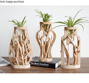 Bohemian Handmade Wooden Vases from Gallery Wallrus | Eclectic Wall Art & Decor with Worldwide Shipping