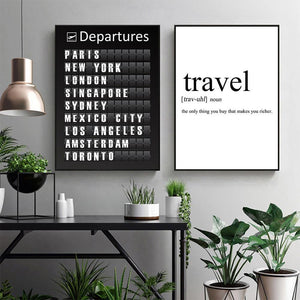 Travel Countries Quotation Wall Art Duo from Gallery Wallrus | Eclectic Wall Art & Decor with Worldwide Shipping