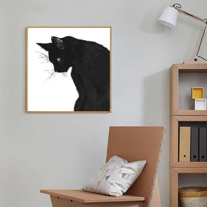 Largest Collection of Fluffy Black Cat Art Pictures 1 from Gallery Wallrus | Eclectic Wall Art & Decor with Worldwide Shipping