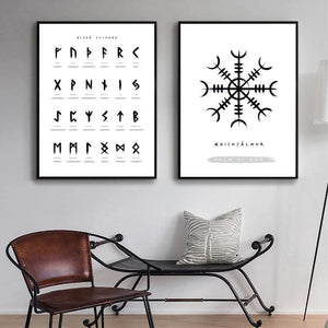 Vintage Runes & Viking Sign Guides Art Print Trio from Gallery Wallrus | Eclectic Wall Art & Decor with Worldwide Shipping