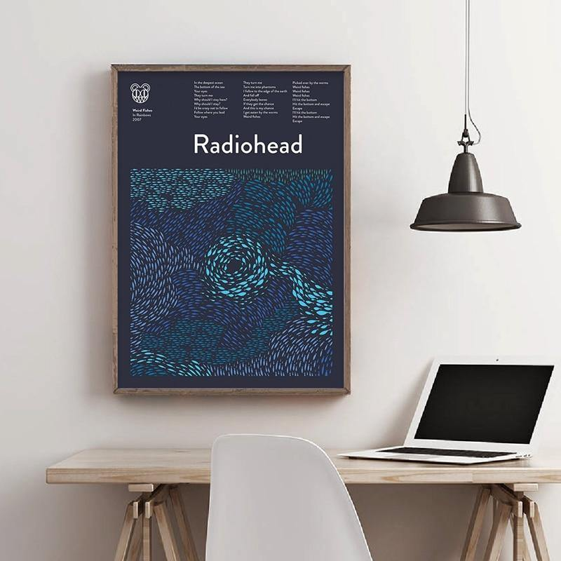 Radiohead Rock Band Wall Art Print from Gallery Wallrus | Eclectic Wall Art & Decor with Worldwide Shipping