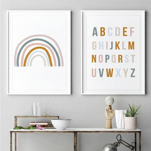 Rainbow Alphabet Twin Set of Art Prints from Gallery Wallrus | Eclectic Wall Art & Decor with Worldwide Shipping