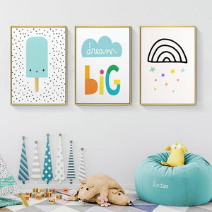 Simple Wall Art Pictures for Children's Bedroom from Gallery Wallrus | Eclectic Wall Art & Decor with Worldwide Shipping