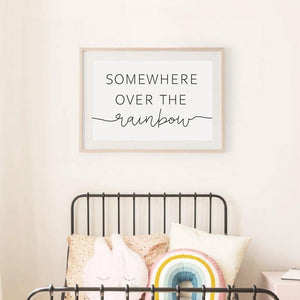Somewhere Over the Rainbow Cute Girls Bedroom Art Print Set from Gallery Wallrus | Eclectic Wall Art & Decor with Worldwide Shipping
