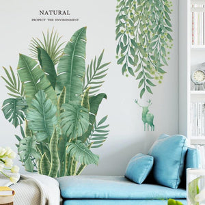 Banana Leaves Nordic Wall Sticker from Gallery Wallrus | Eclectic Wall Art & Decor with Worldwide Shipping