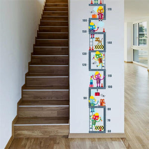 Friendly Robot Upstairs Height Growth Chart Measure Wall Sticker from Gallery Wallrus | Eclectic Wall Art & Decor with Worldwide Shipping