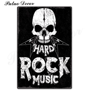 Heavy Rocky Music Metal Wall Signs from Gallery Wallrus | Eclectic Wall Art & Decor with Worldwide Shipping