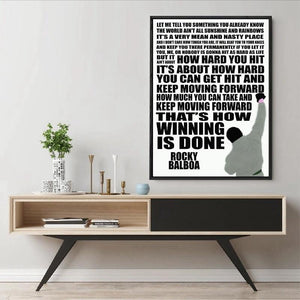 Rocky Quote: That's How Winning Is Done Art Print from Gallery Wallrus | Eclectic Wall Art & Decor with Worldwide Shipping