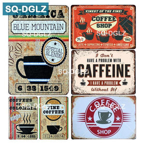 Coffee Shop Wall Art Metal Posters, Mixed Vintage Retro Designs from Gallery Wallrus | Eclectic Wall Art & Decor with Worldwide Shipping