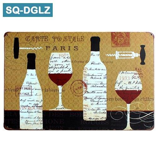 Cheesy Blackboard & Wine Wall Signs Mix & Match from Gallery Wallrus | Eclectic Wall Art & Decor with Worldwide Shipping