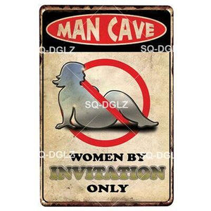 Funny Man Cave Entry Door or Wall Signs from Gallery Wallrus | Eclectic Wall Art & Decor with Worldwide Shipping