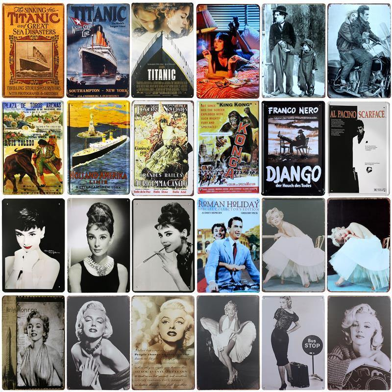 Classic Movie Star Metal Wall Posters for Mix and Match Gallery Walls from Gallery Wallrus | Eclectic Wall Art & Decor with Worldwide Shipping