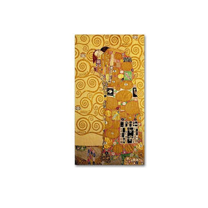 Tall Narrow Klimt Abstract Oil Paintings from Gallery Wallrus | Eclectic Wall Art & Decor with Worldwide Shipping