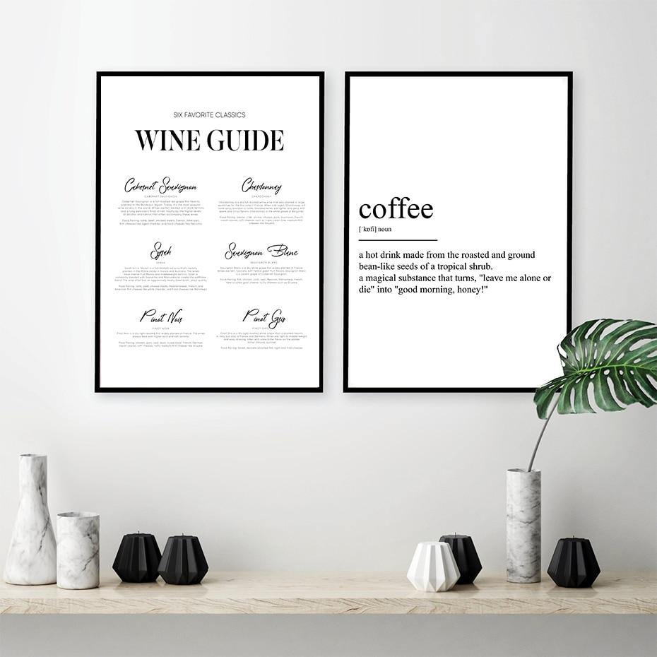 Coffee And Wine Information Posters from Gallery Wallrus | Eclectic Wall Art & Decor with Worldwide Shipping