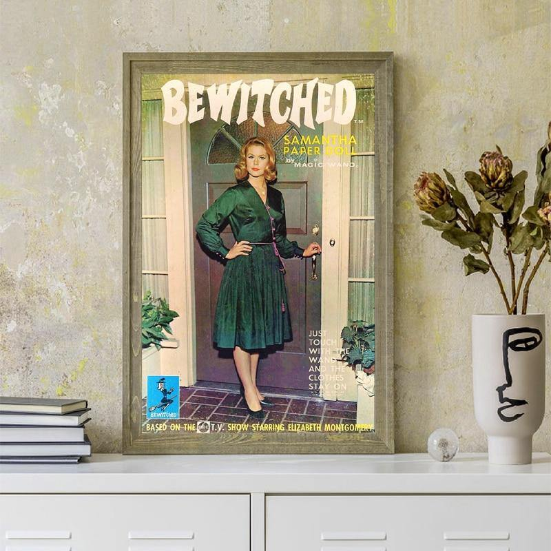 Vintage Retro Bewitched TV Show Art Picture from Gallery Wallrus | Eclectic Wall Art & Decor with Worldwide Shipping