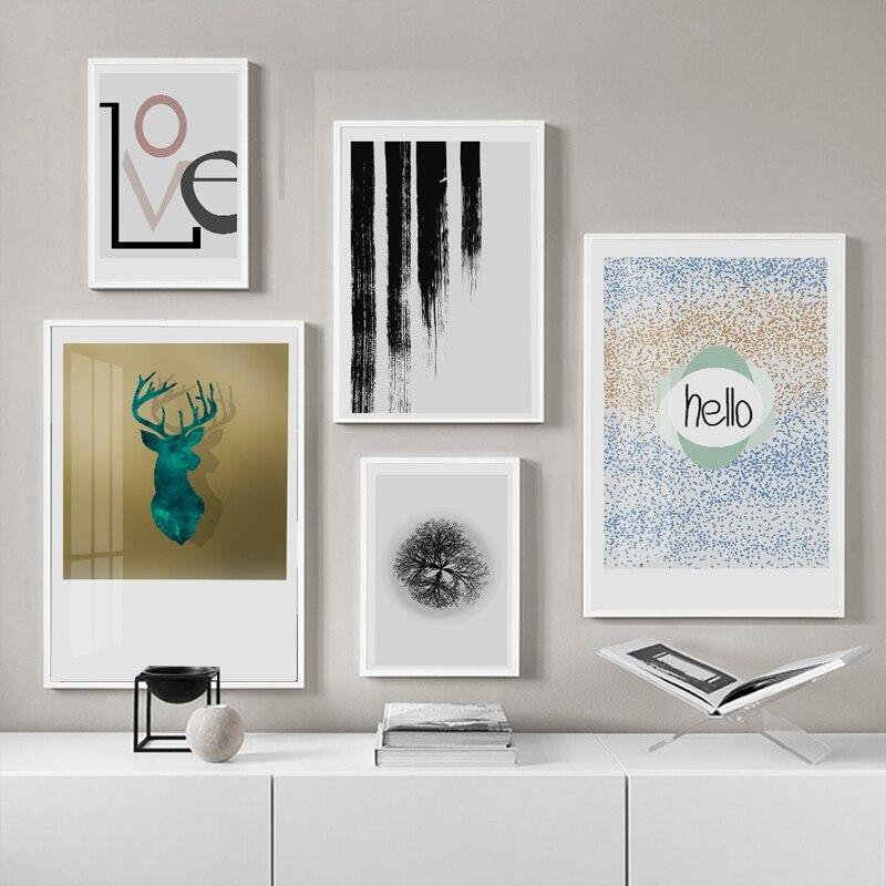 Gallery Walls - eclectic sets of cool bohemian eclectic art