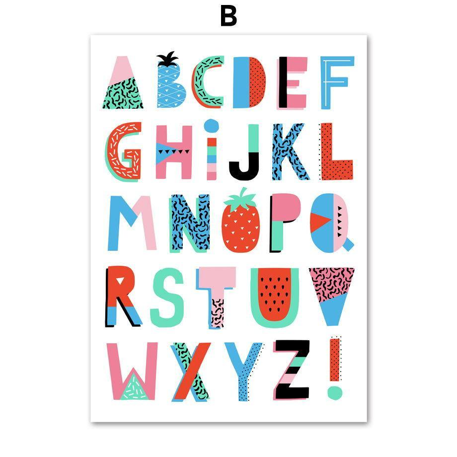 Alphabet and Numbers Wall Art For Child's Bedroom from Gallery Wallrus | Eclectic Wall Art & Decor with Worldwide Shipping