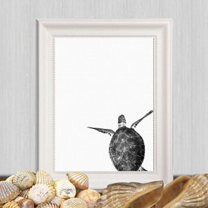 Minimalist Turtle Black & White Photography Art Print from Gallery Wallrus | Eclectic Wall Art & Decor with Worldwide Shipping