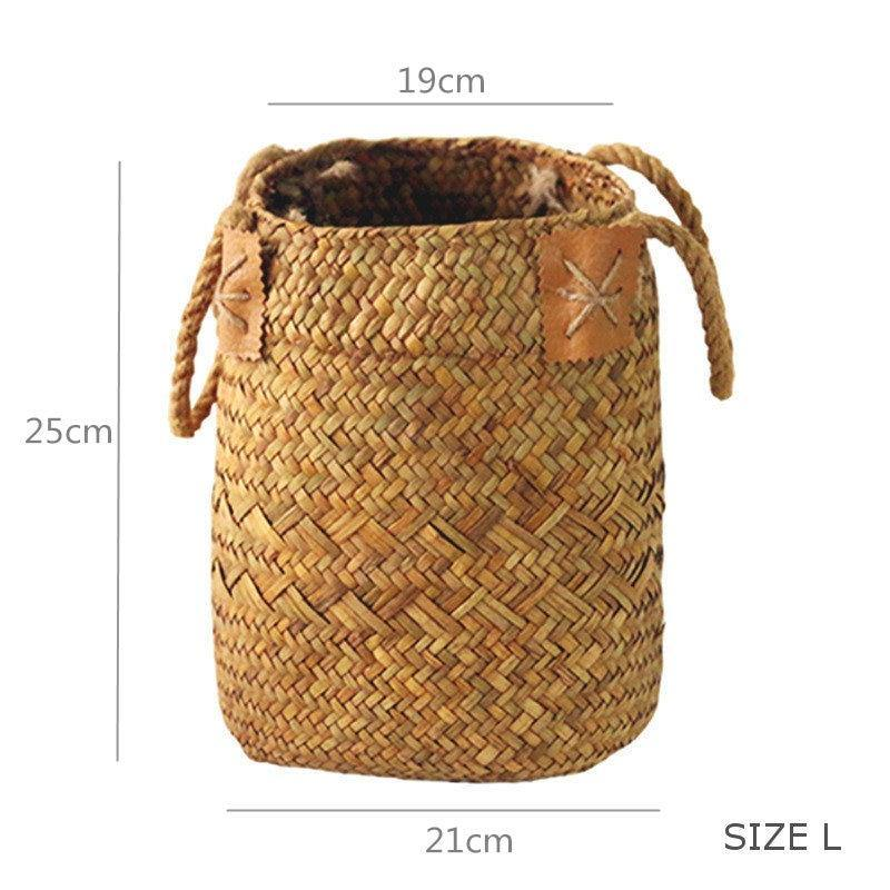 Bohemian Seagrass Woven Storage Baskets from Gallery Wallrus | Eclectic Wall Art & Decor with Worldwide Shipping