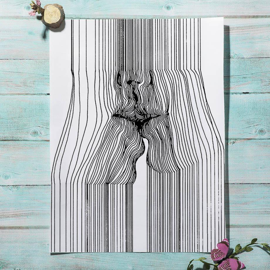Body Abstract Black and White Wall Art Prints from Gallery Wallrus | Eclectic Wall Art & Decor with Worldwide Shipping