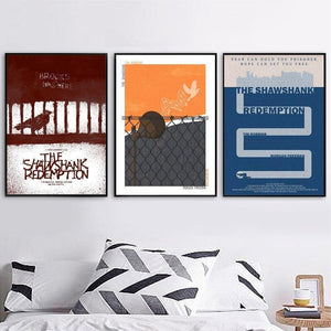 Retro Shawshank Redemption Design Gallery Wall Art Prints from Gallery Wallrus | Eclectic Wall Art & Decor with Worldwide Shipping