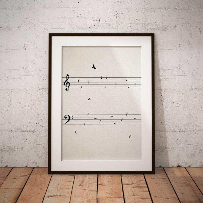 Birds on Sheet Music Art Print from Gallery Wallrus | Eclectic Wall Art & Decor with Worldwide Shipping