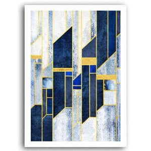 Navy Abstract Gallery Wall Mix & Match from Gallery Wallrus | Eclectic Wall Art & Decor with Worldwide Shipping