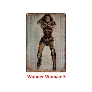 Vintage Wonder Woman Comic Metal Wall Art Posters Mix & Match from Gallery Wallrus | Eclectic Wall Art & Decor with Worldwide Shipping