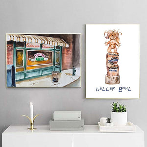 FRIENDS Series Sitcom Locations Gallery Wall Art from Gallery Wallrus | Eclectic Wall Art & Decor with Worldwide Shipping