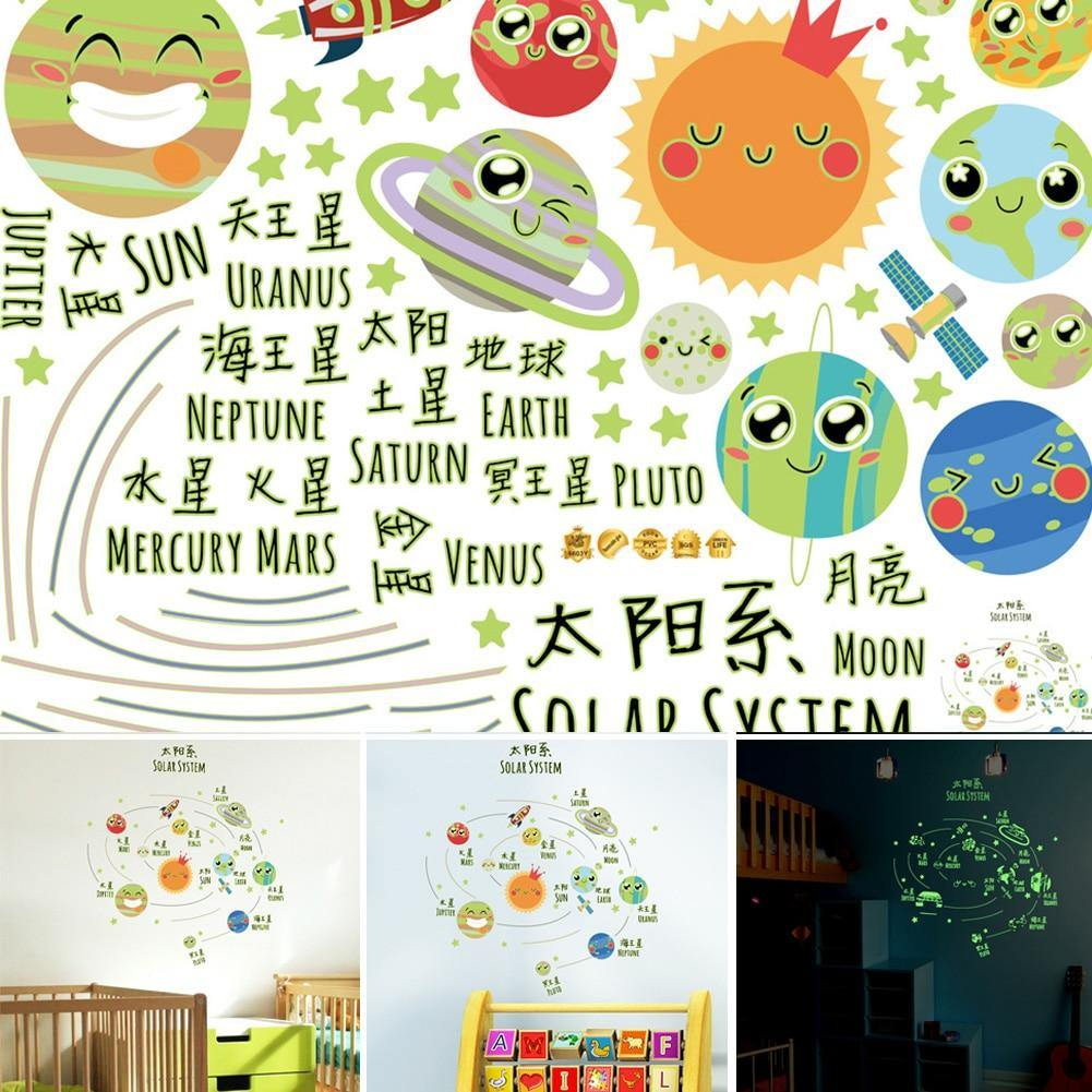 Solar System Glow In The Dark Wall Stickers from Gallery Wallrus | Eclectic Wall Art & Decor with Worldwide Shipping