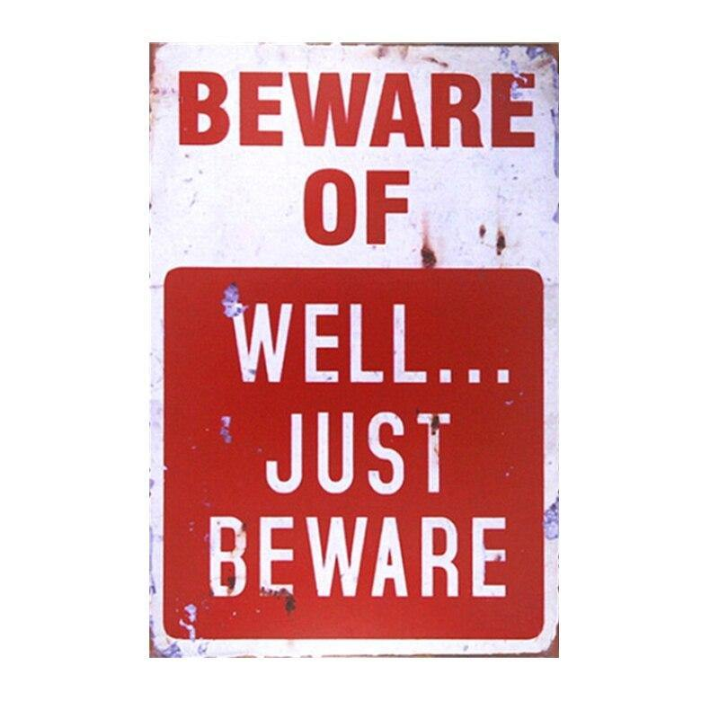 Fun Gallery Wall Art Warning and Typography Metal Plaques from Gallery Wallrus | Eclectic Wall Art & Decor with Worldwide Shipping