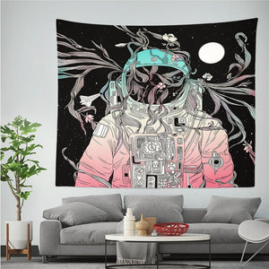 Abstract Space Astronaut Wall Tapestry Collection from Gallery Wallrus | Eclectic Wall Art & Decor with Worldwide Shipping
