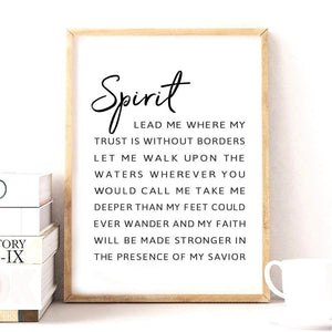 Inspirational Spirit Lyrics Art Print from Gallery Wallrus | Eclectic Wall Art & Decor with Worldwide Shipping