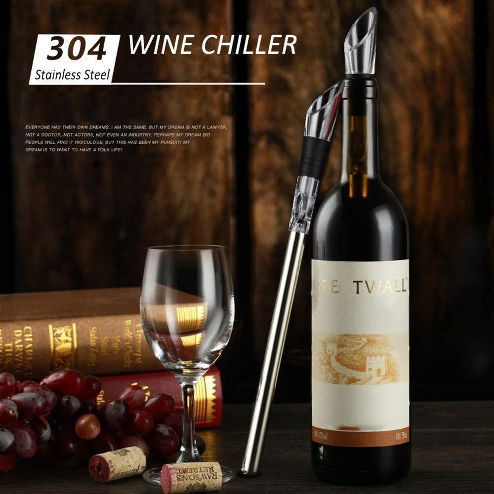 Wine Pourer and Chiller Stick from Gallery Wallrus | Eclectic Wall Art & Decor with Worldwide Shipping