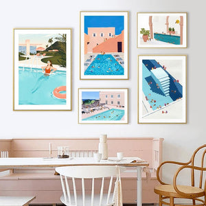 Summer Swimming Pool Art Pictures from Gallery Wallrus | Eclectic Wall Art & Decor with Worldwide Shipping