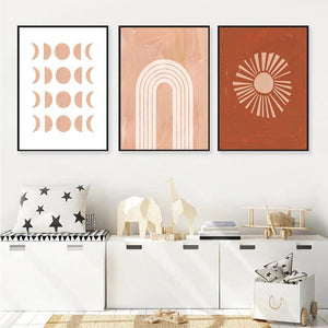 Minimalist Brown and Pink Tone Gallery Wall Prints from Gallery Wallrus | Eclectic Wall Art & Decor with Worldwide Shipping