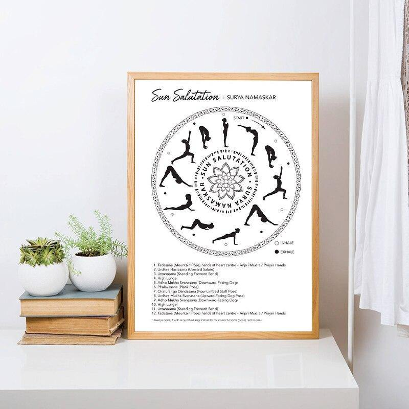 Yoga Sun Salutation Yoga Art Print from Gallery Wallrus | Eclectic Wall Art & Decor with Worldwide Shipping