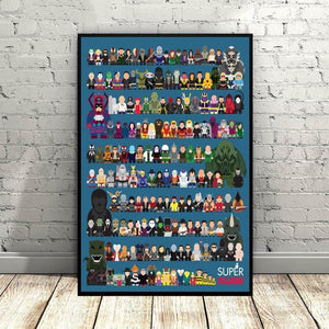 Super Villains Characters Illustration Art Picture from Gallery Wallrus | Eclectic Wall Art & Decor with Worldwide Shipping