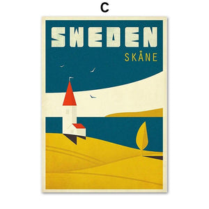 Scandinavian Retro Vintage Poster Wall Art Gallery Prints from Gallery Wallrus | Eclectic Wall Art & Decor with Worldwide Shipping