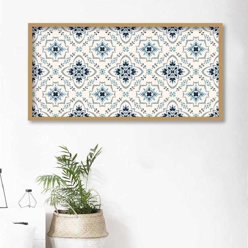 Boho Portuguese Tile Pattern Art Print from Gallery Wallrus | Eclectic Wall Art & Decor with Worldwide Shipping