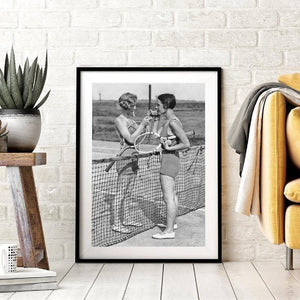 Black and White Vintage Tennis Smoking Art Poster from Gallery Wallrus | Eclectic Wall Art & Decor with Worldwide Shipping