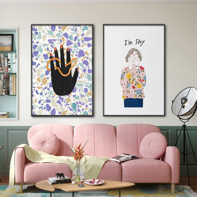Bohemian Hand Line & Shy Girl Wall Art Gallery from Gallery Wallrus | Eclectic Wall Art & Decor with Worldwide Shipping
