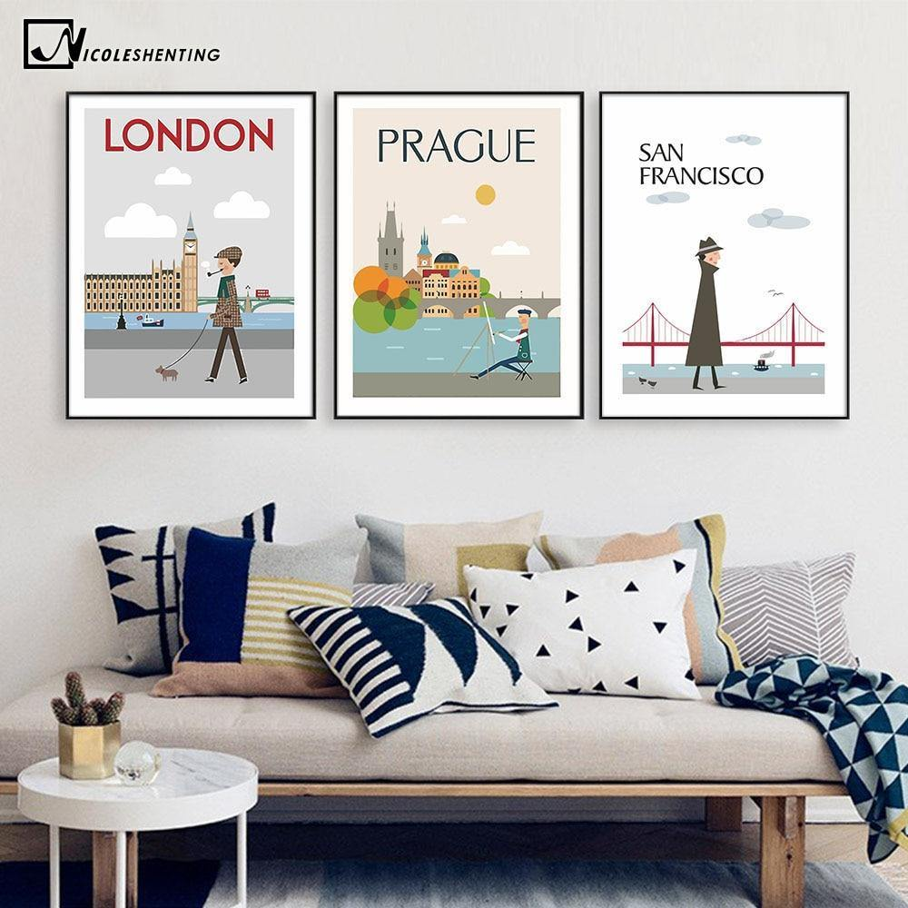London, New York, Prague and More Vintage Poster Gallery Wall Prints from Gallery Wallrus | Eclectic Wall Art & Decor with Worldwide Shipping