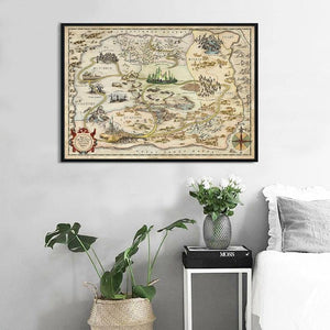 The Wizard of Oz Map Wall Art Poster from Gallery Wallrus | Eclectic Wall Art & Decor with Worldwide Shipping