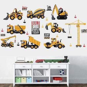 Transportation Trucks Boys Bedroom Wall Stickers from Gallery Wallrus | Eclectic Wall Art & Decor with Worldwide Shipping