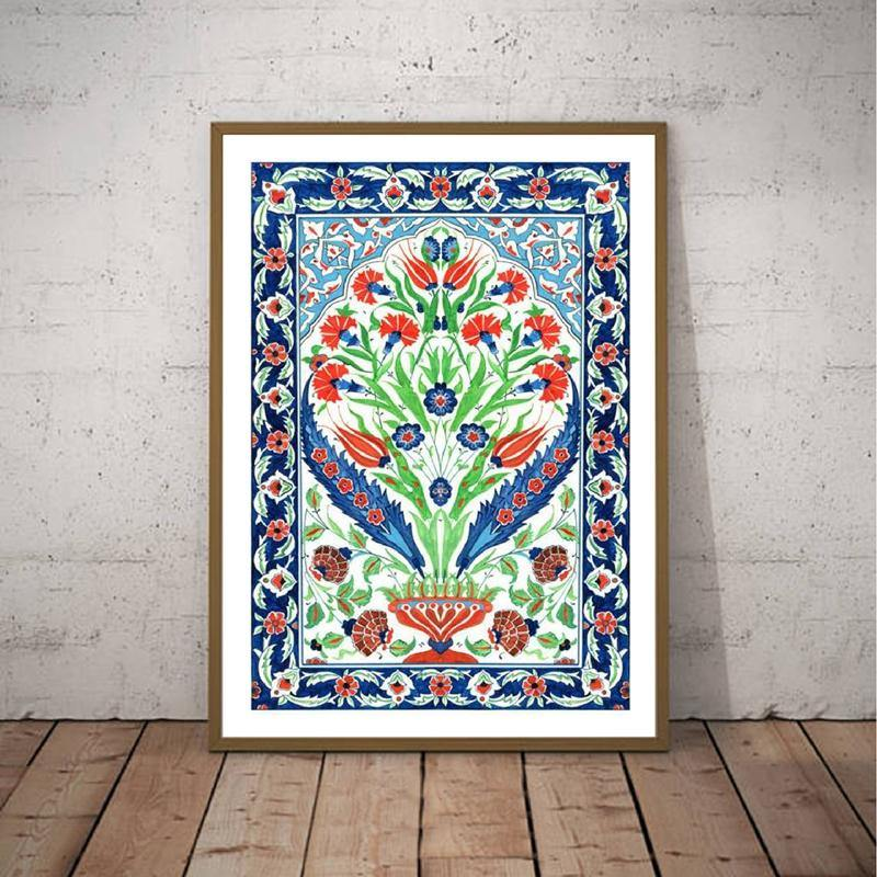 Bohemian Turkish Ethnic Blue & Red Art Print from Gallery Wallrus | Eclectic Wall Art & Decor with Worldwide Shipping