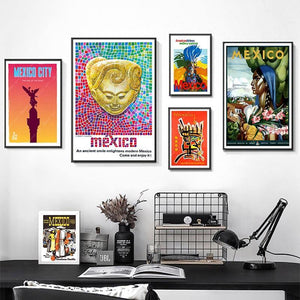 Bright Neon Mexico Gallery Wall Art Pictures from Gallery Wallrus | Eclectic Wall Art & Decor with Worldwide Shipping